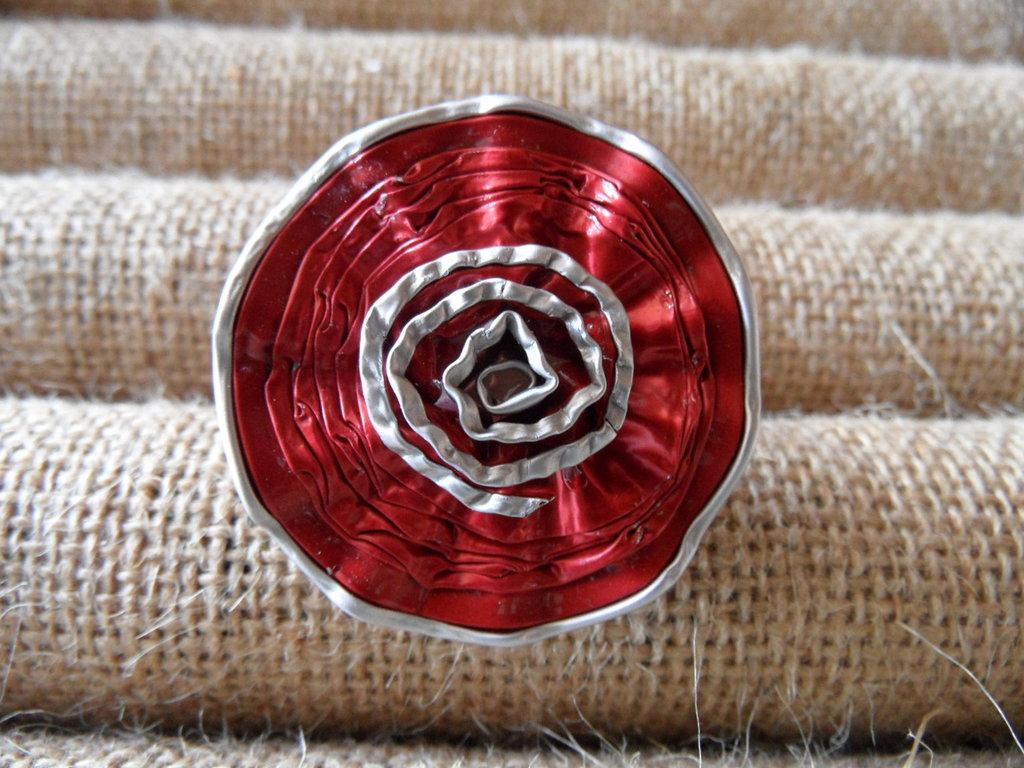 Anello rosellina rossa