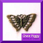 1 x ciondolo a forma di farfalla - Bronzo dorato