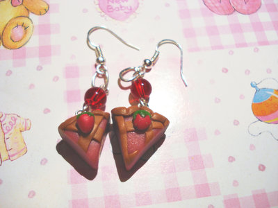 Strawberry cake Earrings