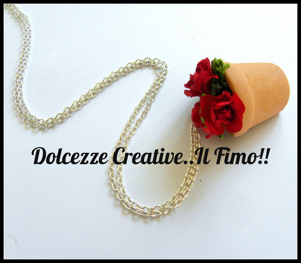 Collana Vaso di Rose