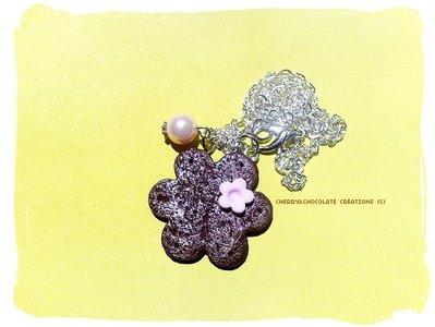 Collana biscotto a fiore in fimo