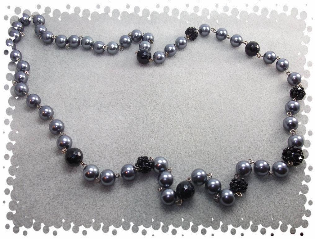 Collana con sfere in cristalli di Boemia