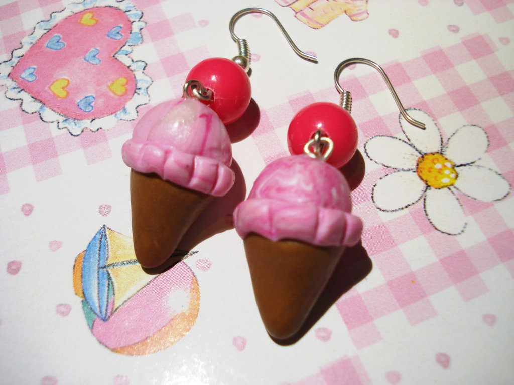 Pink icecream Earrings