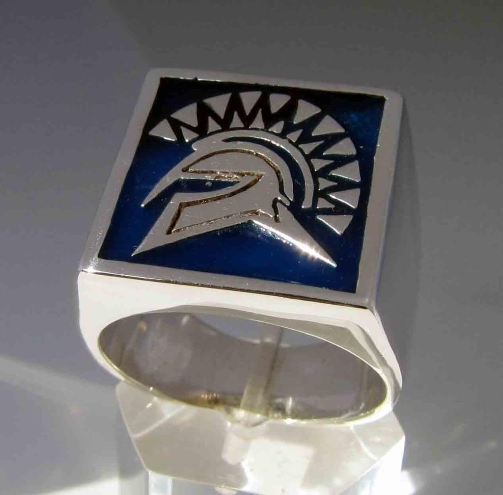 Anello mod. Spartacus in argento 925 e smalto a fuoco colorato