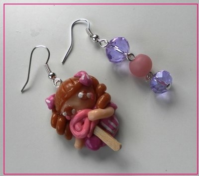Orecchini bambolina con lollipop!!