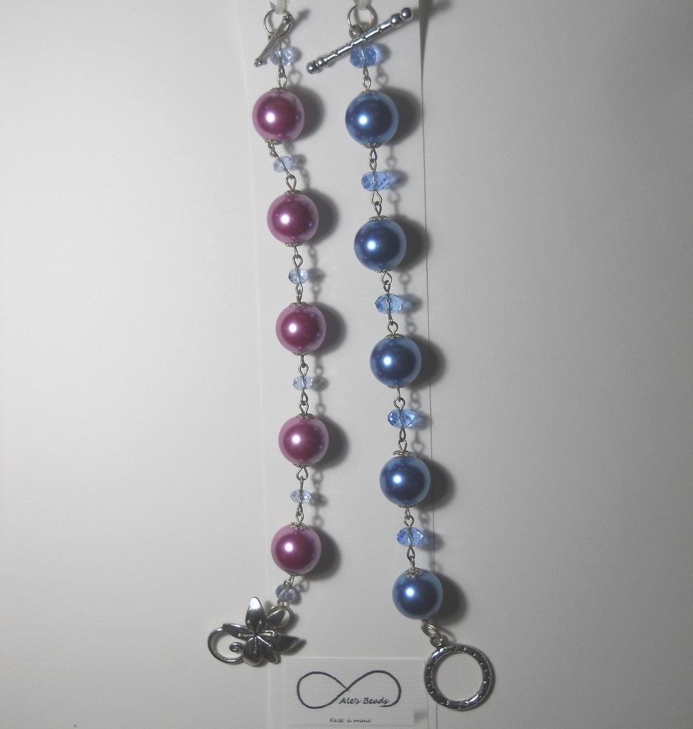 set 2 bracciali lilla azzurro