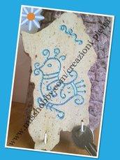 Appendi chiavi in pietra sarda trachite 10/15 cm