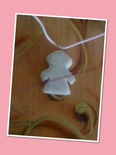 Ciondolo collana bimba in pietra