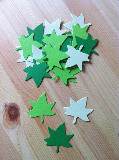 Foglie - leaf #3 in cartoncino fustellato - abbellimenti
