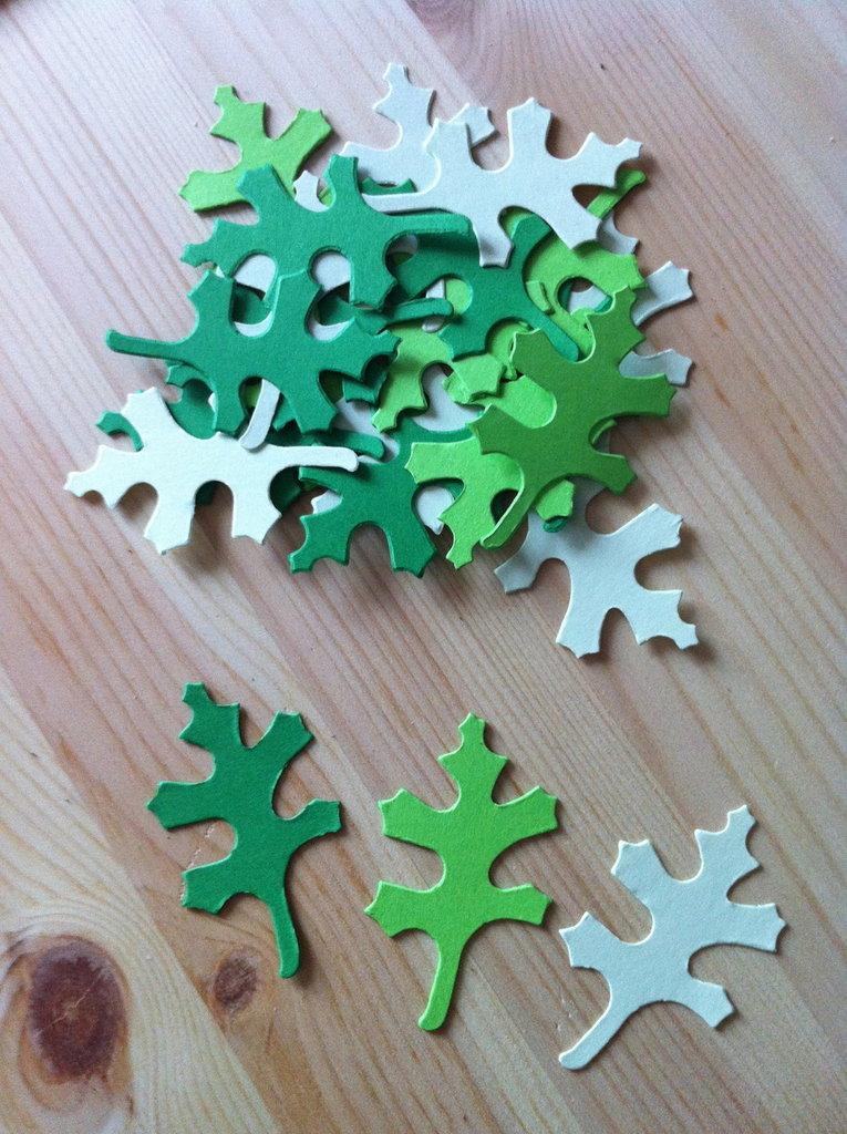Foglie - leaf #4 in cartoncino fustellato - abbellimenti