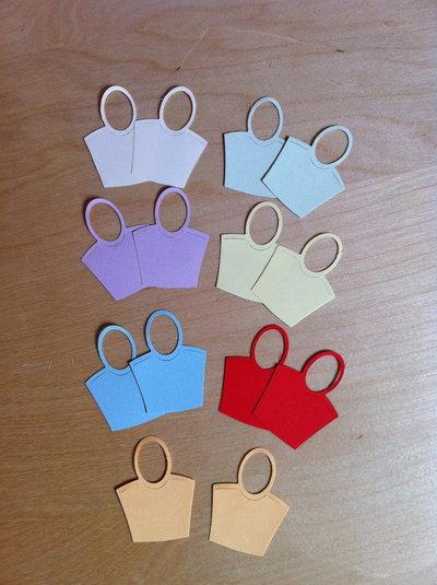 Borse manico - handbag#2 in cartoncino fustellato - abbellimenti