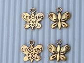 "8 charms farfallina ""created for you"""