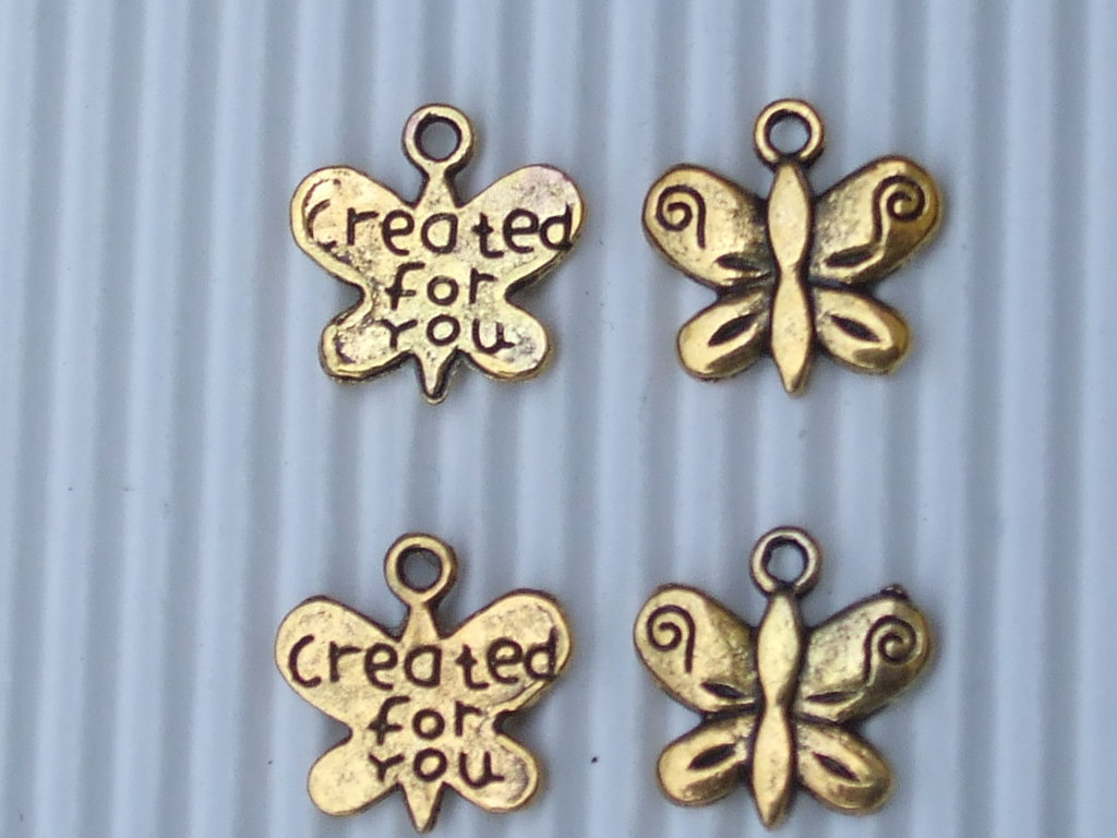 "8 charms farfallina ""created for you"""