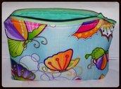 Astuccio porta cellulare con farfalle