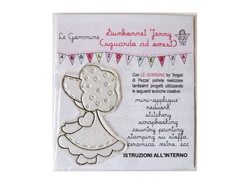 Le Gommine: timbri da ricamo - Sunbonnet Jenny (sx)
