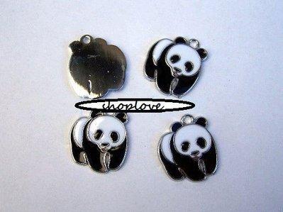 CIONDOLO SMALTATO PANDA
