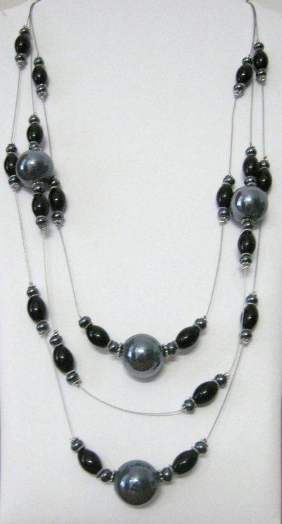 Collana perle ceramica