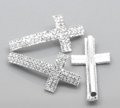CHARM  CROCE CON STRASS 4.7X2.4 MM scontato