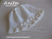 Cappellino da bambina in cotone - Hats for little girls and babies