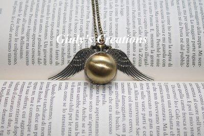 Collana con orologio apribile funzionante Boccino D'Oro di Harry Potter