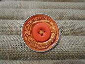 Anello bottone arancione