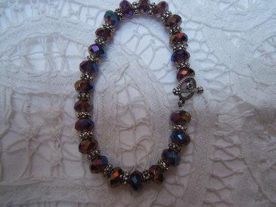Bracciale argento tibetano victorian style, bracelet tibetan silver shabby