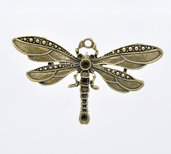 ciondolo libellula color bronzo 73x42mm
