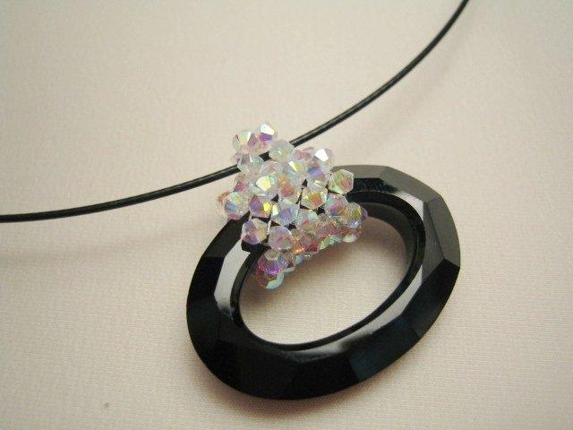 """""""Cosmic Oval"""" - Girocollo in cristallo Swarovski"""