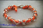 bracciale catena lycra arancio moda ESTATE 2013!