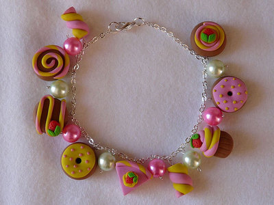 Braccialetto pink-yellow in fimo