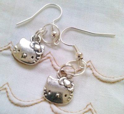Orecchini Hello Kitty in Argento Tibetano Argento