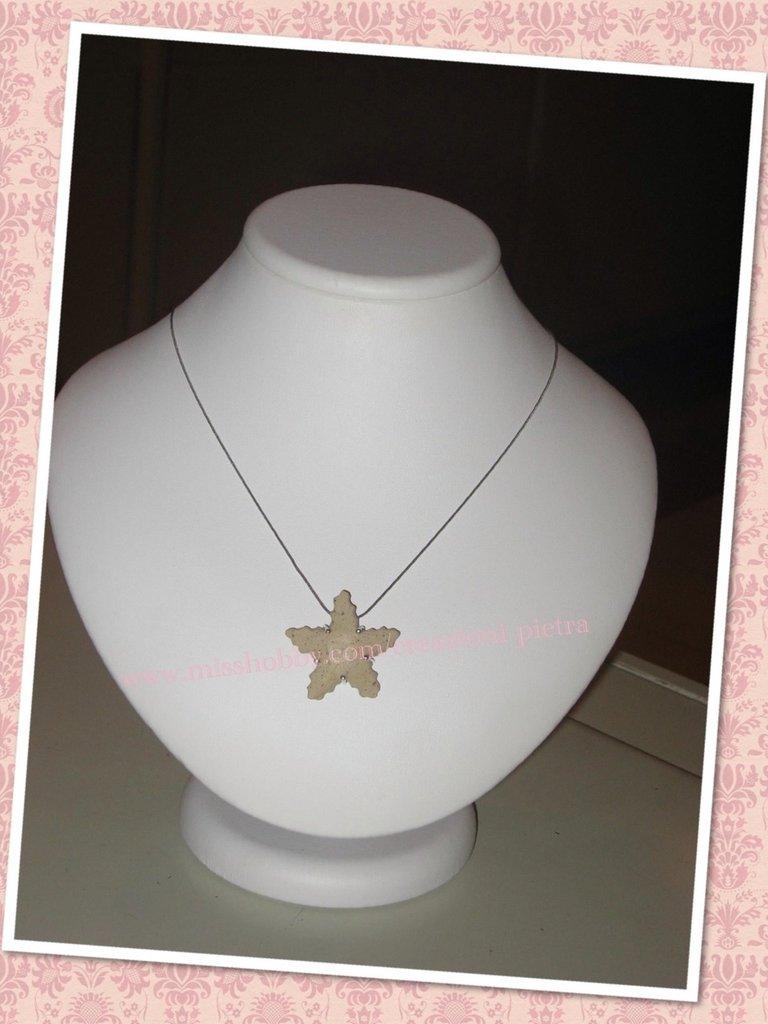 Collana ciondolo stella marina in pietra