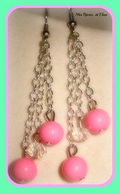 Orecchini rosa fluo