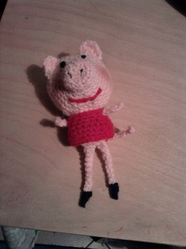 peppa pig all'uncinetto