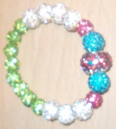 bracciale in swarosky palline vari colori
