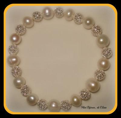 Bracciale argento 925 e perle