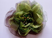 Le Spille Artigianali, organza flower brooches