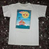 maglietta quadro barca