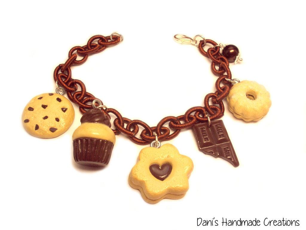 Bracciale biscotti al cioccolato