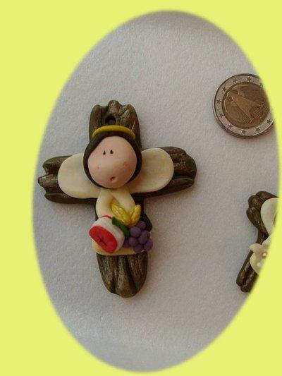 Ricordo Bomboniera crocifisso croce Prima Comunione