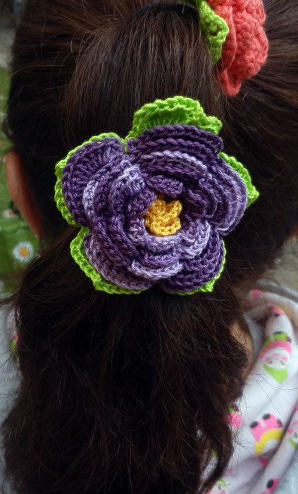 Elastici per capelli con fiore