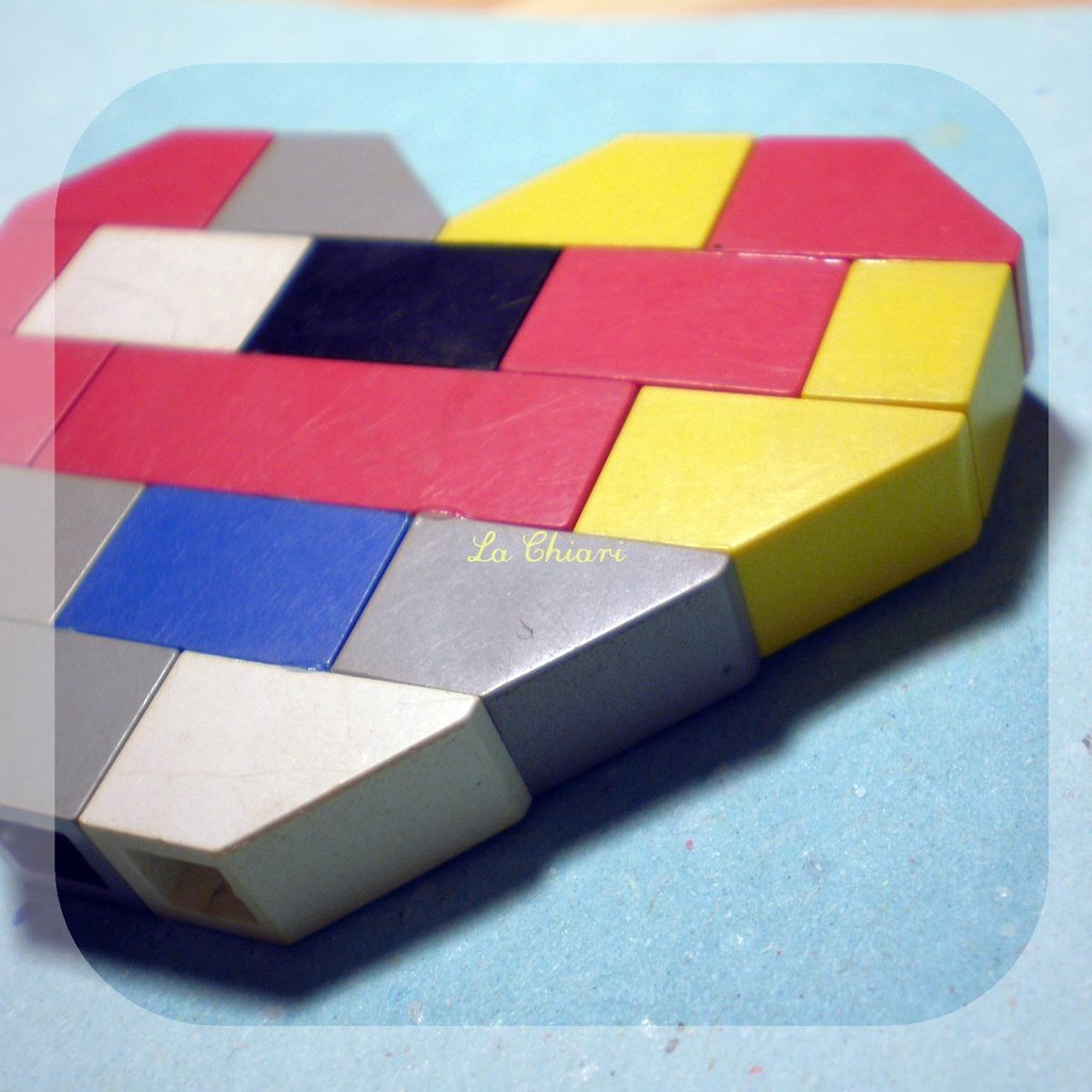 TRUE COLORS LEGO brooch