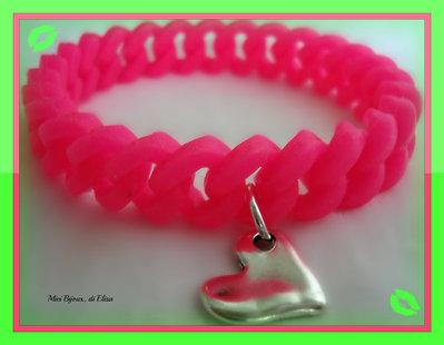 Bracciale moda estate 2013 rosa fluo