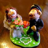 Sposi per torta - Cake Topper matrimonio personalizzati