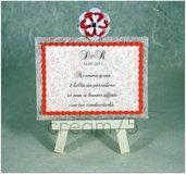 Mini cavalletto ROSSO segnatavolo sposi matrimonio segna tavolo