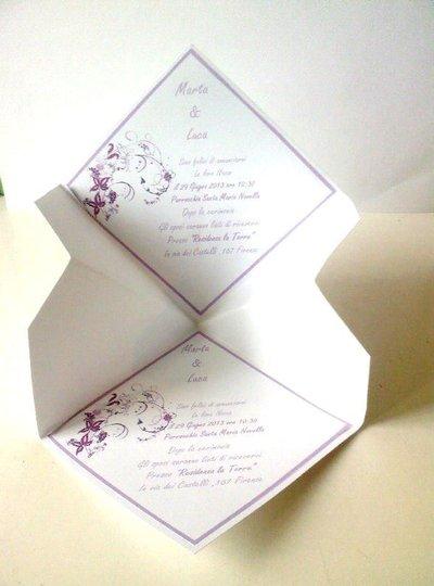 Busta Matrimonio Toscana : Partecipazioni matrimonio senza busta feste