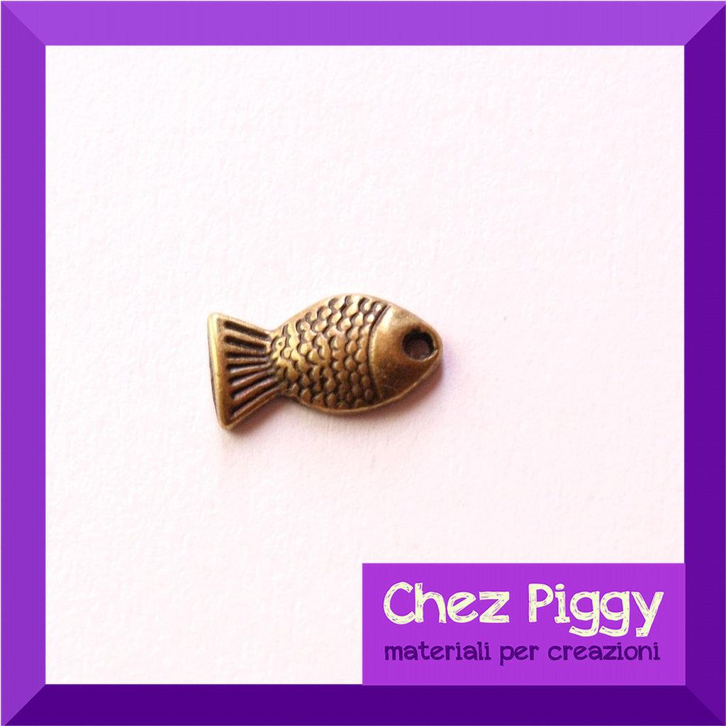 1 x charm a forma di pesciolino - bronzo