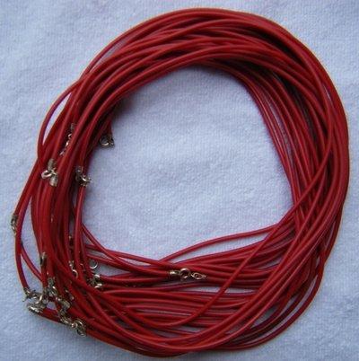 1 cordino in caucciù colore rosso e chiusura in argento 925
