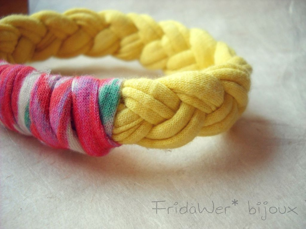 Bracciale Milleintrecci POP - Giallo e Arancione Fantasia by FridaWer