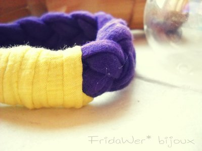Bracciale Milleintrecci POP - Viola e Giallo by FridaWer